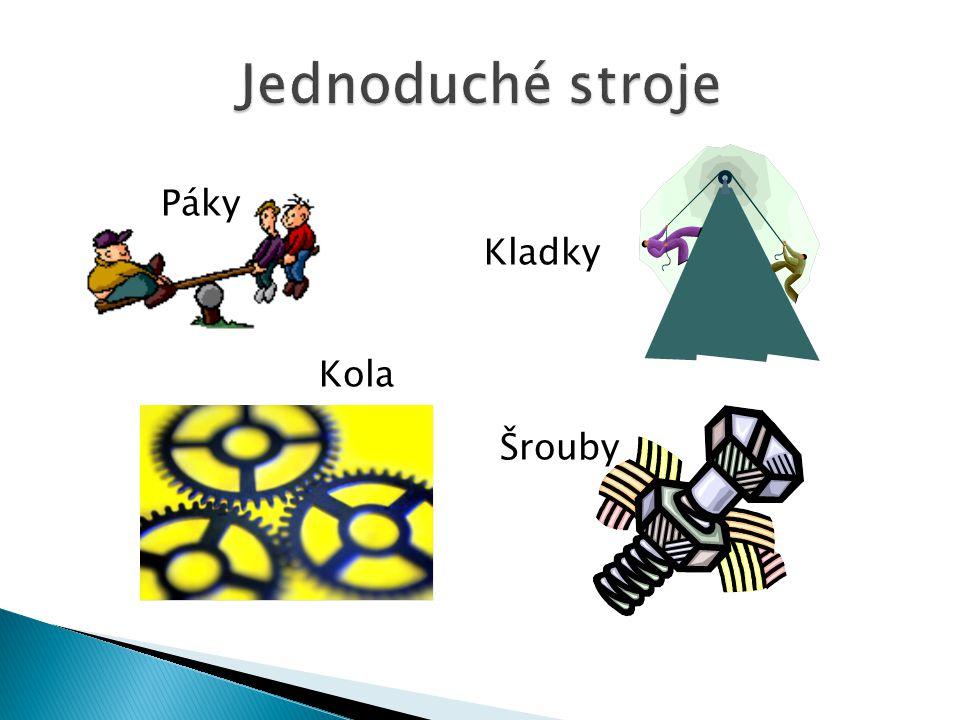 Páky Kladky Kola Šrouby
