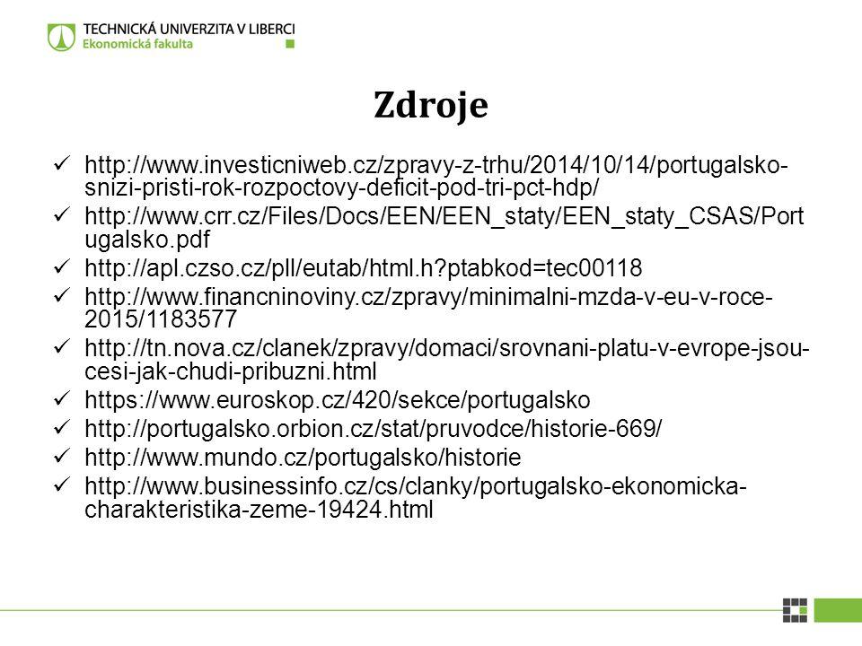 Zdroje http://www.investicniweb.cz/zpravy-z-trhu/2014/10/14/portugalsko- snizi-pristi-rok-rozpoctovy-deficit-pod-tri-pct-hdp/ http://www.crr.cz/Files/