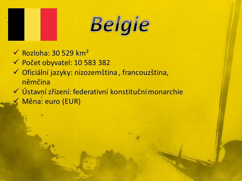 Rozloha: 30 529 km² Počet obyvatel: 10 583 382 Oficiální jazyky: nizozemština, francouzština, němčina Ústavní zřízení: federativní konstituční monarchie Měna: euro (EUR)