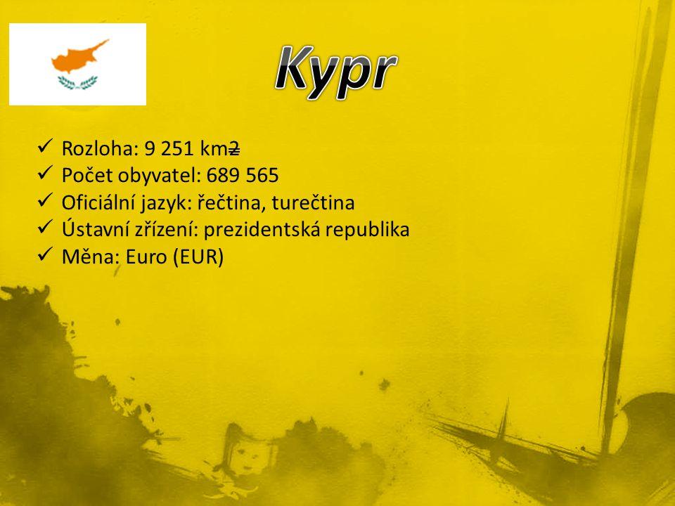 Rozloha: 9 251 km2 Počet obyvatel: 689 565 Oficiální jazyk: řečtina, turečtina Ústavní zřízení: prezidentská republika Měna: Euro (EUR)