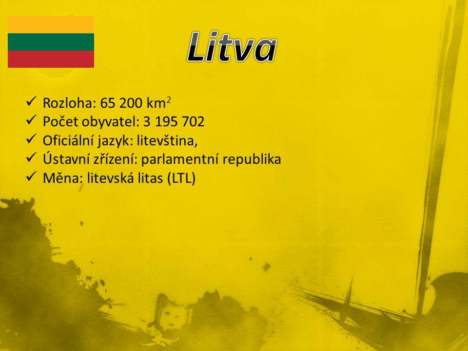 Rozloha: 65 200 km 2 Počet obyvatel: 3 195 702 Oficiální jazyk: litevština, Ústavní zřízení: parlamentní republika Měna: litevská litas (LTL)