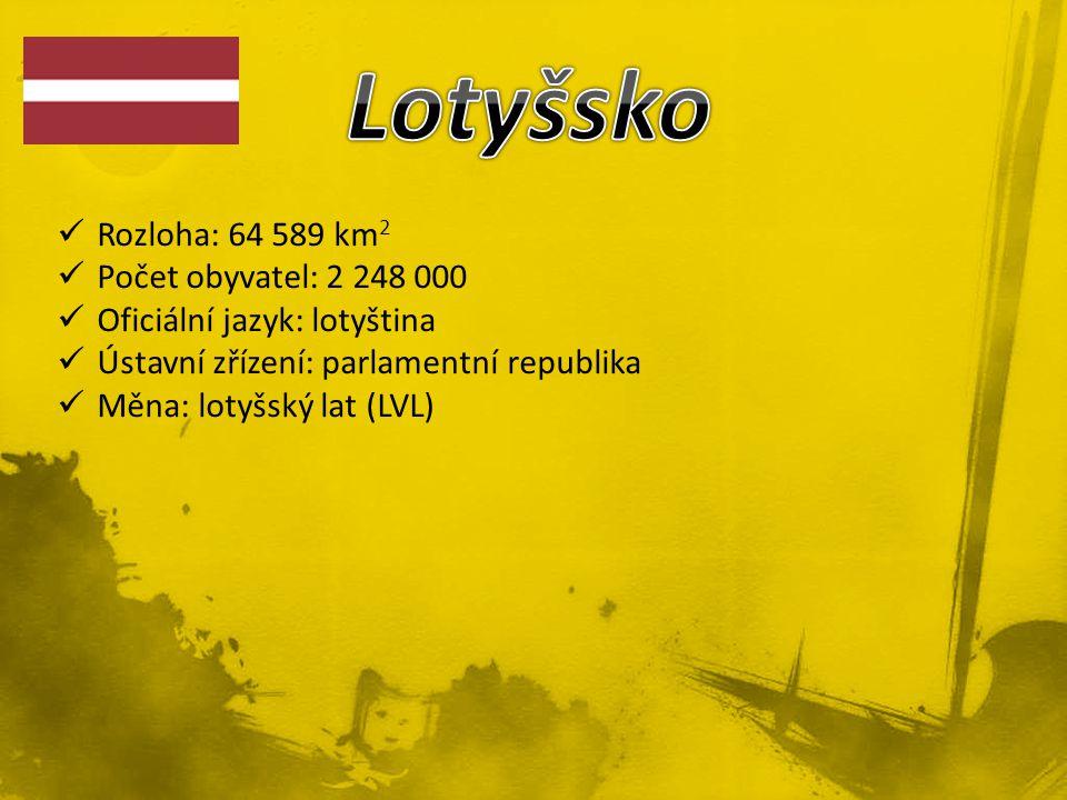 Rozloha: 64 589 km 2 Počet obyvatel: 2 248 000 Oficiální jazyk: lotyština Ústavní zřízení: parlamentní republika Měna: lotyšský lat (LVL)