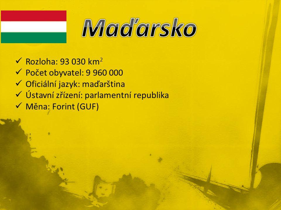 Rozloha: 93 030 km 2 Počet obyvatel: 9 960 000 Oficiální jazyk: maďarština Ústavní zřízení: parlamentní republika Měna: Forint (GUF)
