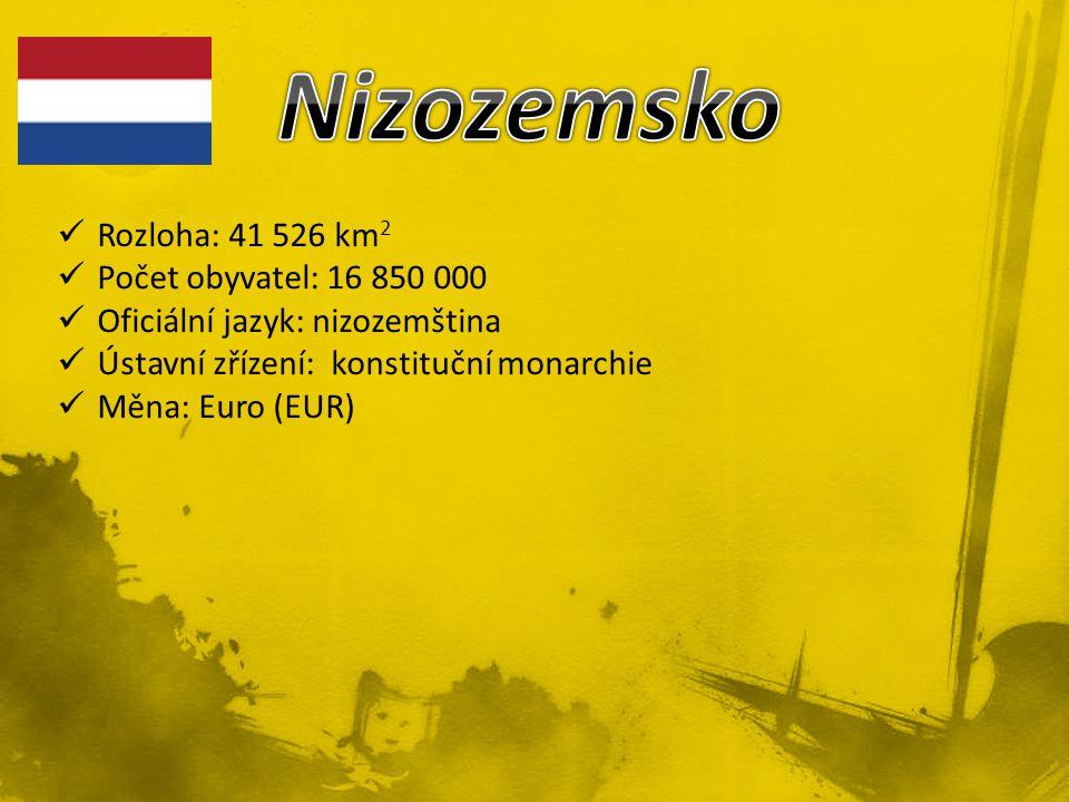 Rozloha: 41 526 km 2 Počet obyvatel: 16 850 000 Oficiální jazyk: nizozemština Ústavní zřízení: konstituční monarchie Měna: Euro (EUR)