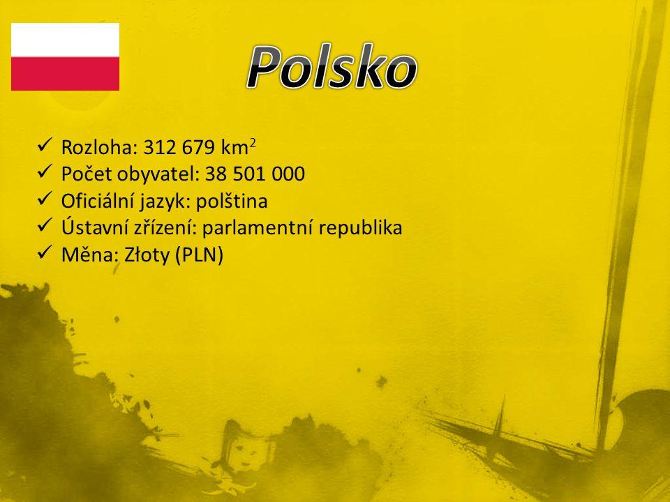 Rozloha: 312 679 km 2 Počet obyvatel: 38 501 000 Oficiální jazyk: polština Ústavní zřízení: parlamentní republika Měna: Złoty (PLN)