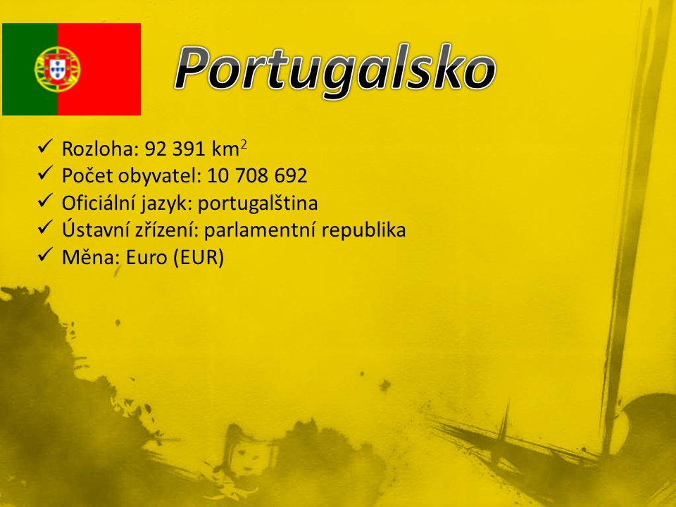Rozloha: 92 391 km 2 Počet obyvatel: 10 708 692 Oficiální jazyk: portugalština Ústavní zřízení: parlamentní republika Měna: Euro (EUR)