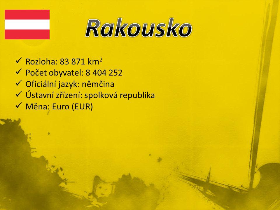 Rozloha: 83 871 km 2 Počet obyvatel: 8 404 252 Oficiální jazyk: němčina Ústavní zřízení: spolková republika Měna: Euro (EUR)