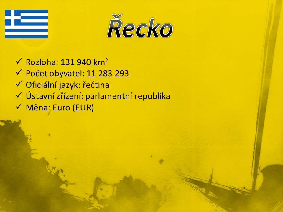 Rozloha: 131 940 km 2 Počet obyvatel: 11 283 293 Oficiální jazyk: řečtina Ústavní zřízení: parlamentní republika Měna: Euro (EUR)