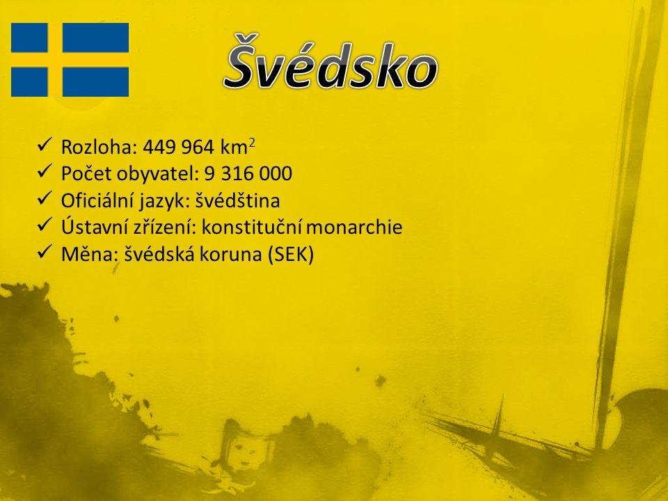 Rozloha: 449 964 km 2 Počet obyvatel: 9 316 000 Oficiální jazyk: švédština Ústavní zřízení: konstituční monarchie Měna: švédská koruna (SEK)