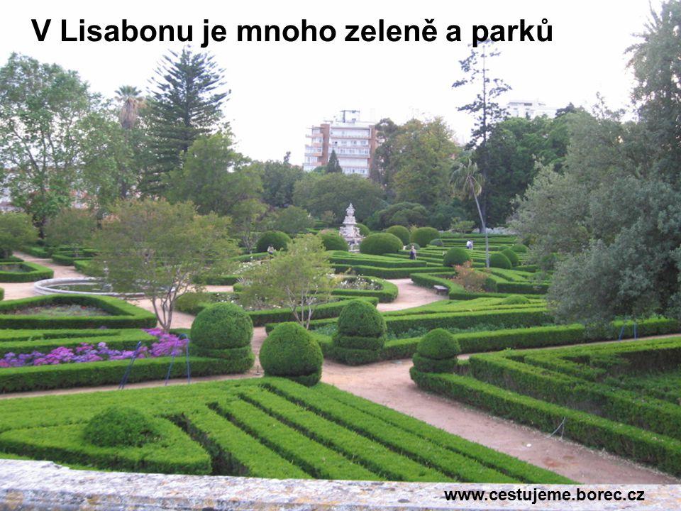 V Lisabonu je mnoho zeleně a parků www.cestujeme.borec.cz