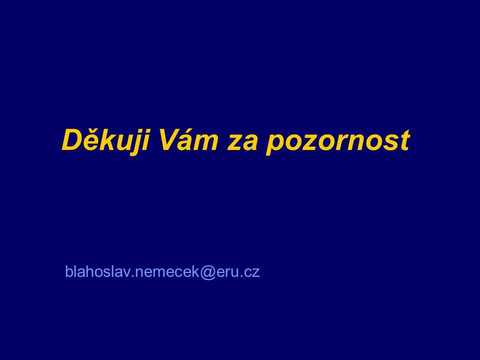 Děkuji Vám za pozornost blahoslav.nemecek@eru.cz