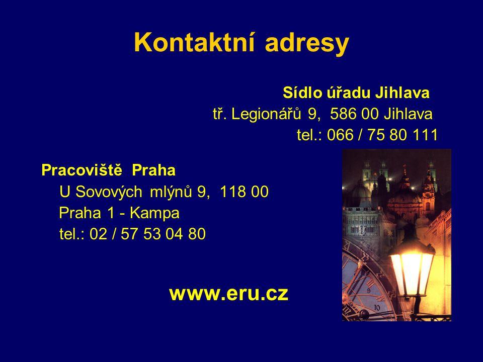 Kontaktní adresy Sídlo úřadu Jihlava tř.