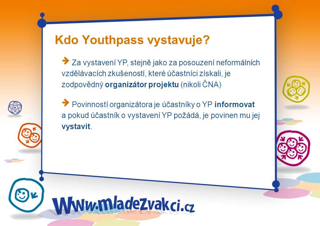 Kdo Youthpass vystavuje.