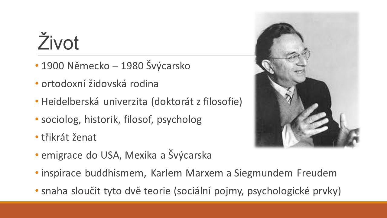 Život 1900 Německo – 1980 Švýcarsko ortodoxní židovská rodina Heidelberská univerzita (doktorát z filosofie) sociolog, historik, filosof, psycholog tř