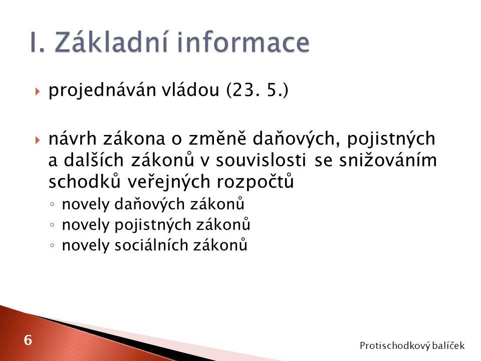  projednáván vládou (23.