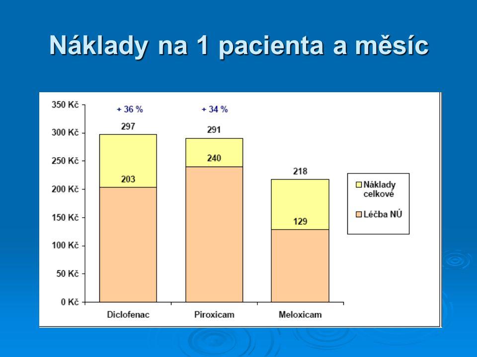Náklady na 1 pacienta a měsíc