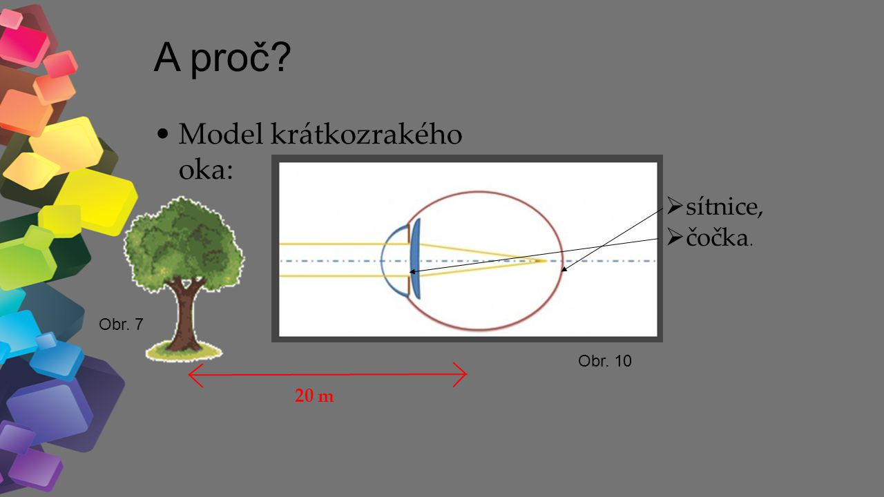 Jak upravit krátkozrakost? Brýlemi s rozptylkami. Obr. 11 Obr. 12