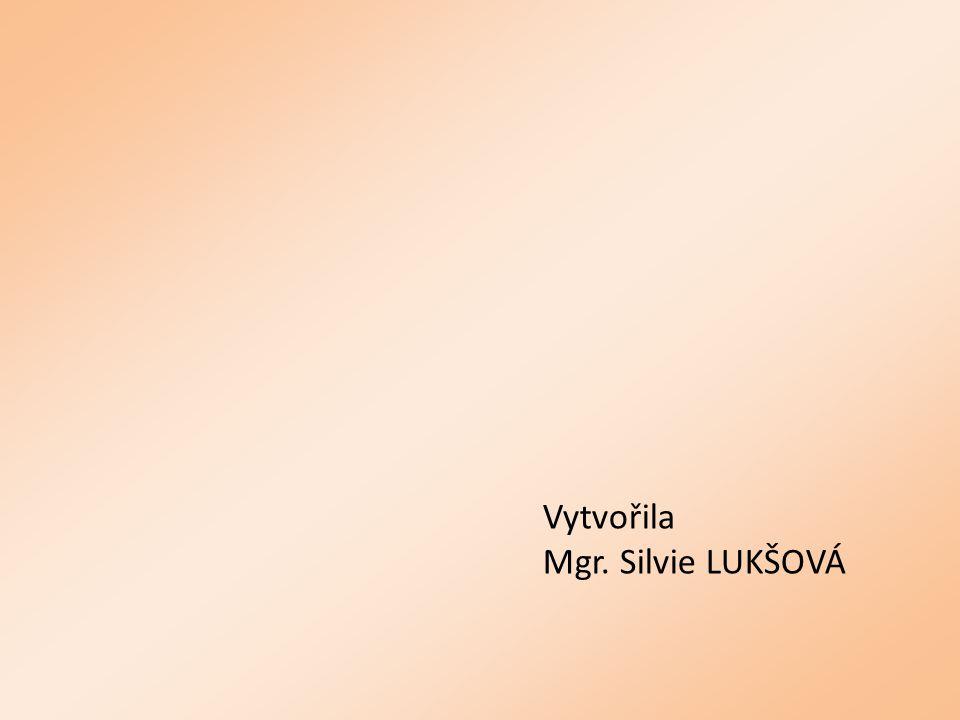 Vytvořila Mgr. Silvie LUKŠOVÁ