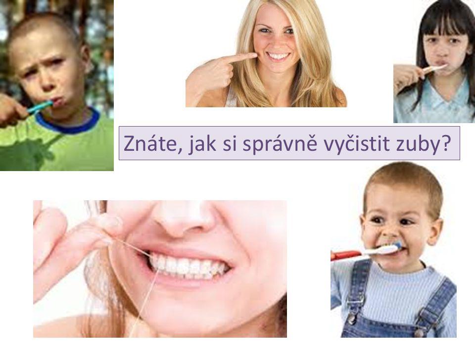 1) Jedna polovina pracovní plochy – štětin – kartáčku se dotýká dásní, druhá zubů.