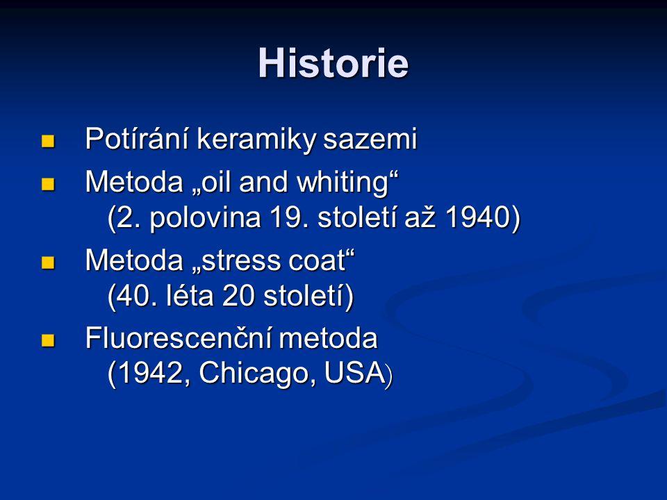 """Historie Potírání keramiky sazemi Potírání keramiky sazemi Metoda """"oil and whiting"""" (2. polovina 19. století až 1940) Metoda """"oil and whiting"""" (2. pol"""