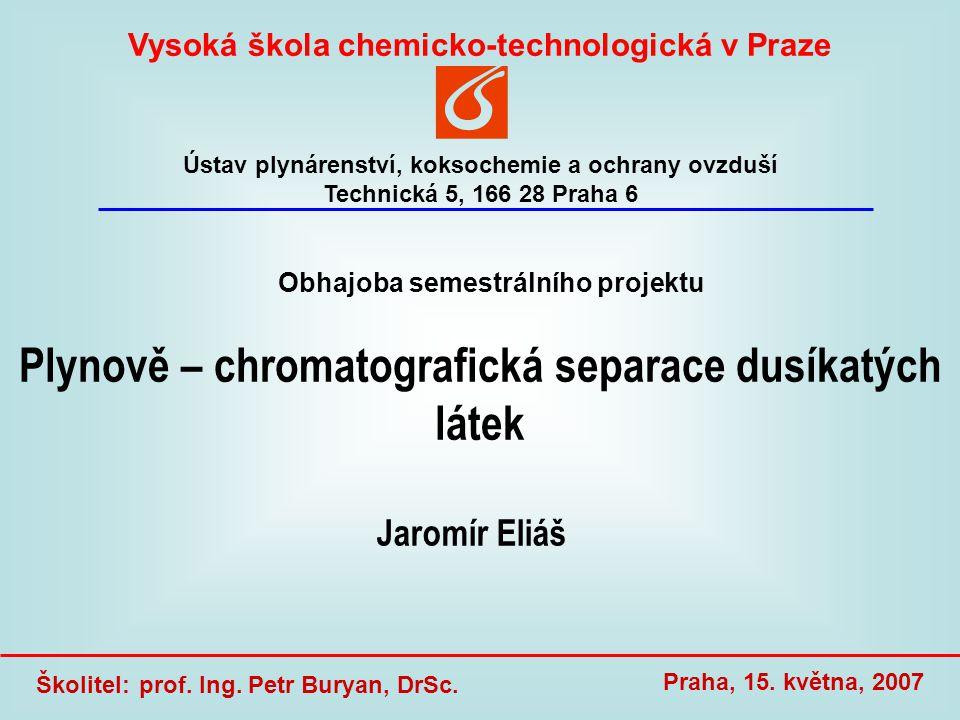 12 Jaromír Eliáš, Plynově – chromatografická separace dusíkatých látek, 15.