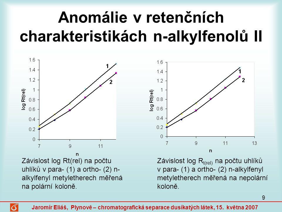 10 Jaromír Eliáš, Plynově – chromatografická separace dusíkatých látek, 15.