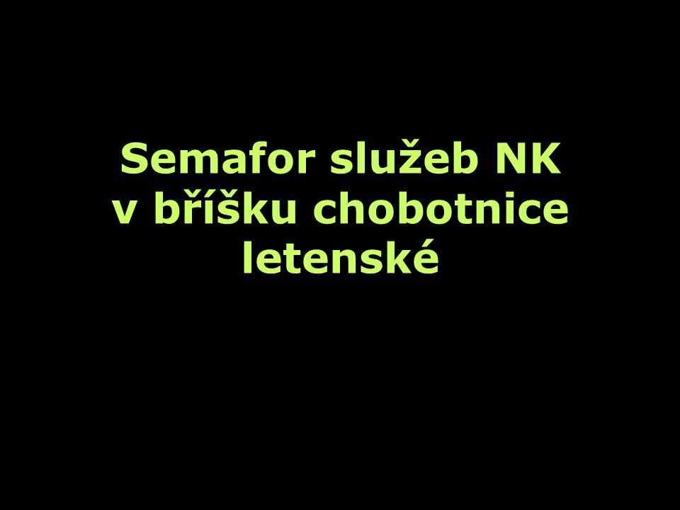 Semafor služeb NK v bříšku chobotnice letenské