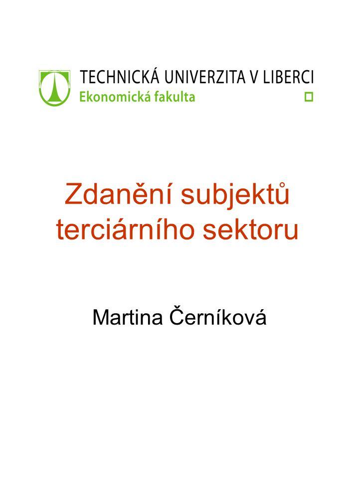 Zdanění subjektů terciárního sektoru Martina Černíková