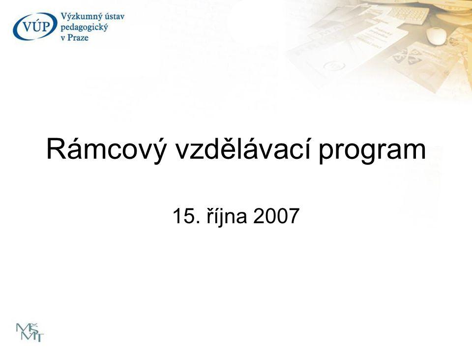 Rámcový vzdělávací program 15. října 2007