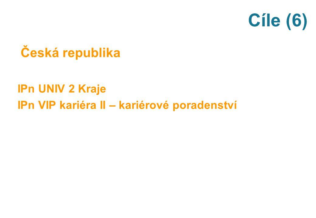 Cíle (6) Česká republika IPn UNIV 2 Kraje IPn VIP kariéra II – kariérové poradenství