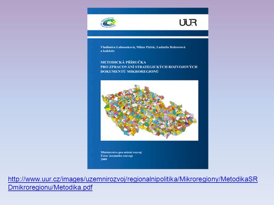 http://www.uur.cz/images/uzemnirozvoj/regionalnipolitika/Mikroregiony/MetodikaSR Dmikroregionu/Metodika.pdf