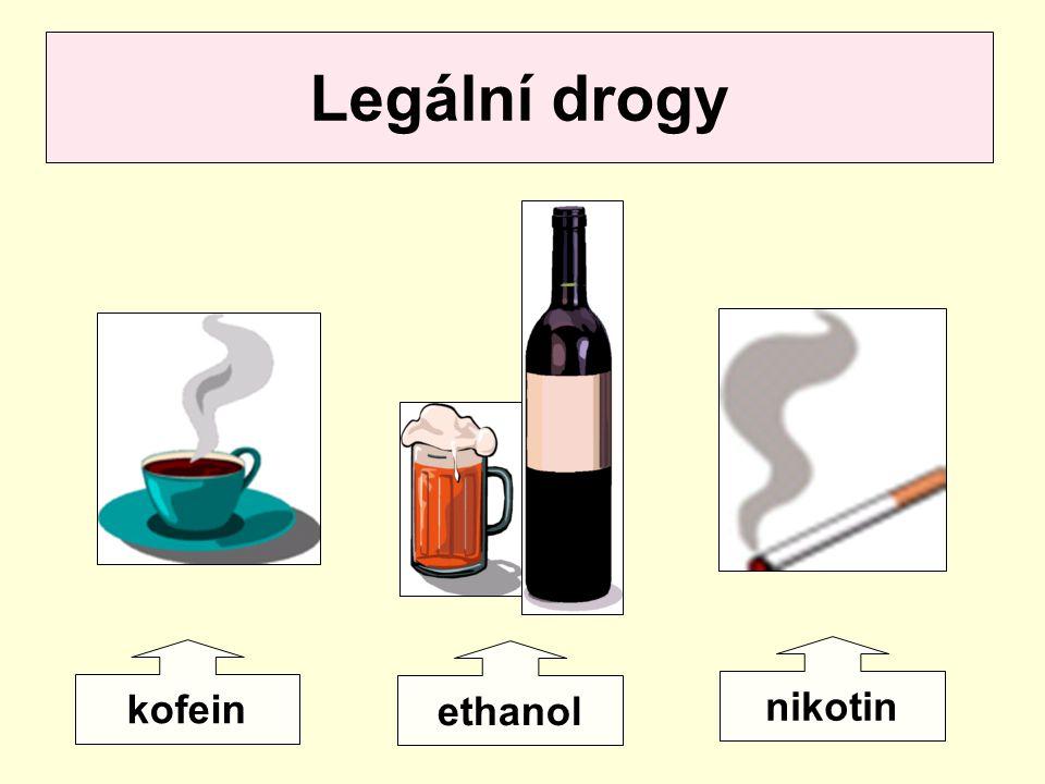 Legální drogy kofein ethanol nikotin