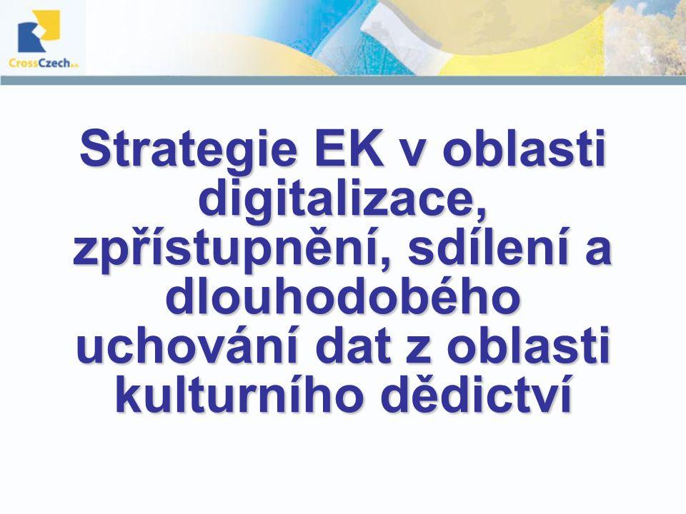 Strategie EK v oblasti digitalizace, zpřístupnění, sdílení a dlouhodobého uchování dat z oblasti kulturního dědictví