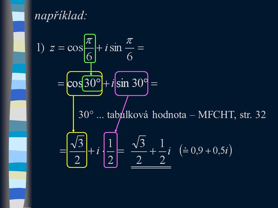 například: 30 ... tabulková hodnota – MFCHT, str. 32