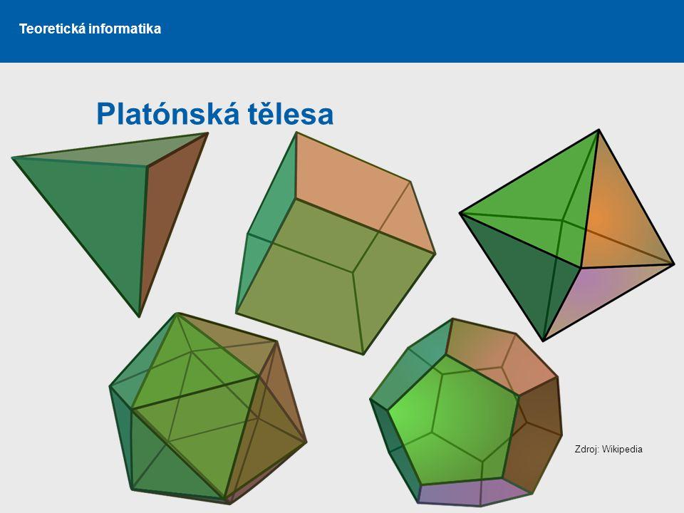Teoretická informatika Platónská tělesa Zdroj: Wikipedia