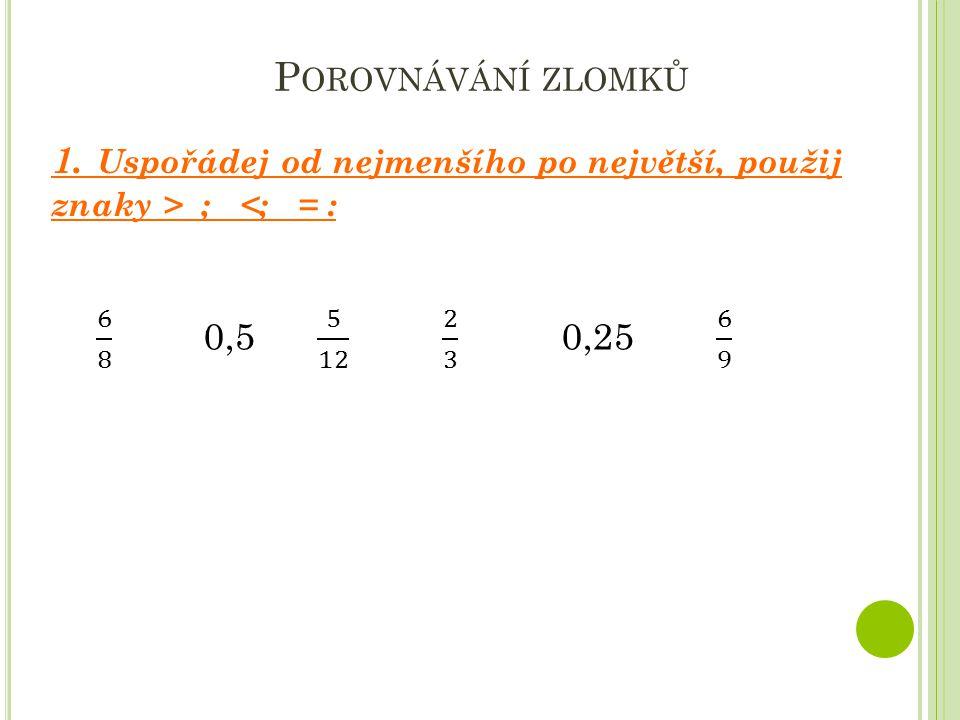 V YPOČÍTEJ Všechny výsledky vyjádři jako zlomek v základním tvaru, pokud lze převeď na smíšené číslo.