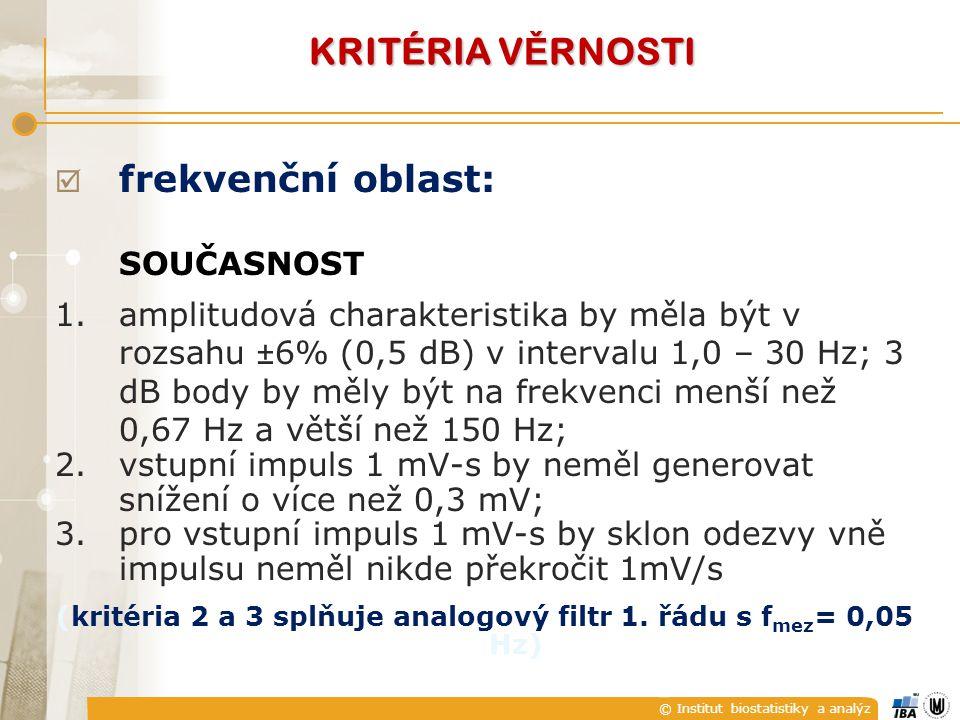 © Institut biostatistiky a analýz  frekvenční oblast: SOUČASNOST 1.