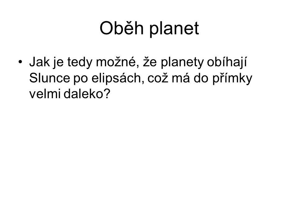 Oběh planet Jak je tedy možné, že planety obíhají Slunce po elipsách, což má do přímky velmi daleko?