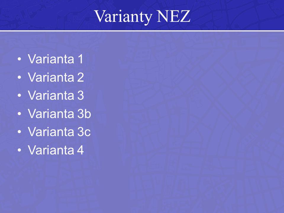 Varianty NEZ Varianta 1 Varianta 2 Varianta 3 Varianta 3b Varianta 3c Varianta 4