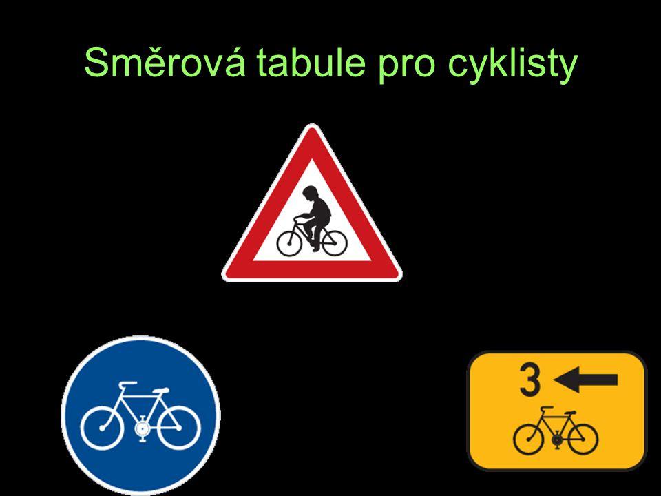 Směrová tabule pro cyklisty O E T