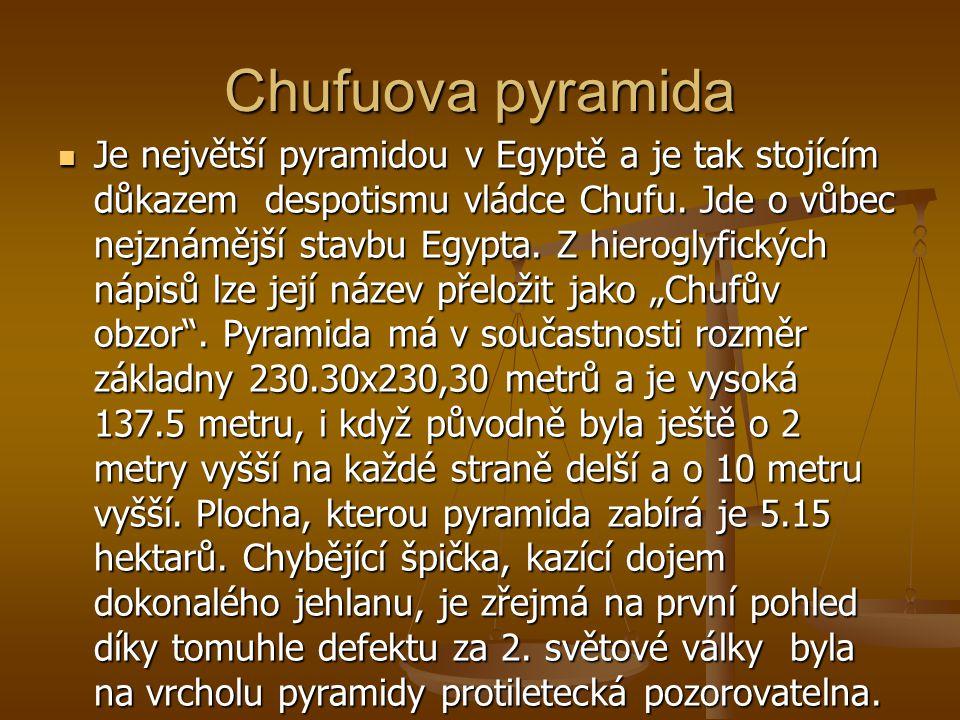 K čemu sloužily 2 Někteří králové si nechali postavit 2 pyramidy, což bývá vysvětlováno egyptsým dualismem, který spočíval v tom,že byly králové Horní