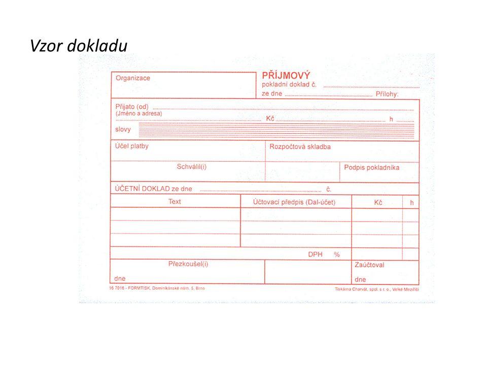 Výdej peněz Vystavíme 1x VPD – Výdajový pokladní doklad doklad zapisujeme do Pokladní knihy a současně zapisujeme (účtujeme) na účet 211 – Pokladna Účtenky a Faktury jsou součástí Výdajového pokladního dokladu.