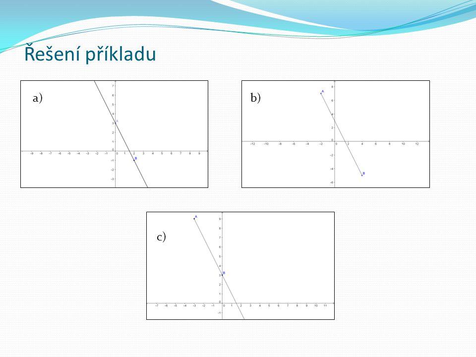 Řešení příkladu a)b) c)