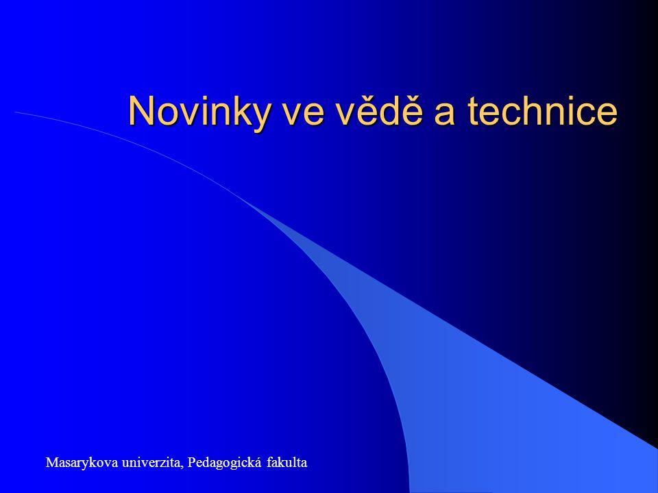 Novinky ve vědě a technice Masarykova univerzita, Pedagogická fakulta