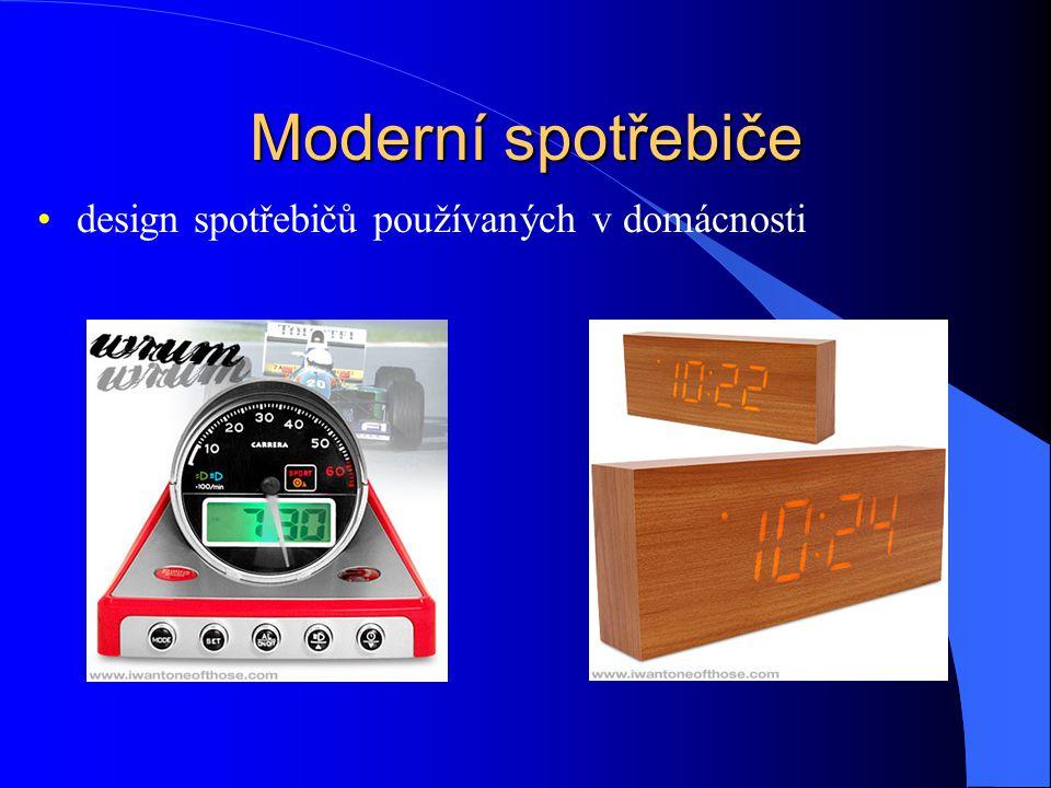 Moderní spotřebiče design spotřebičů používaných v domácnosti
