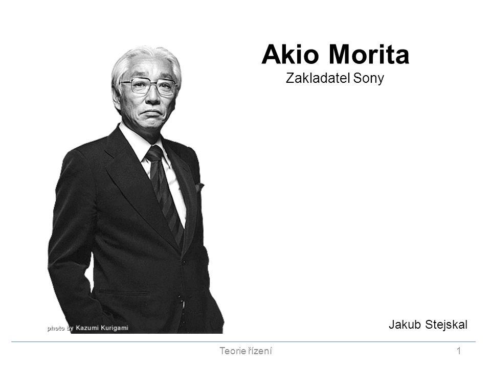 Akio Morita Zakladatel Sony Jakub Stejskal Teorie řízení1