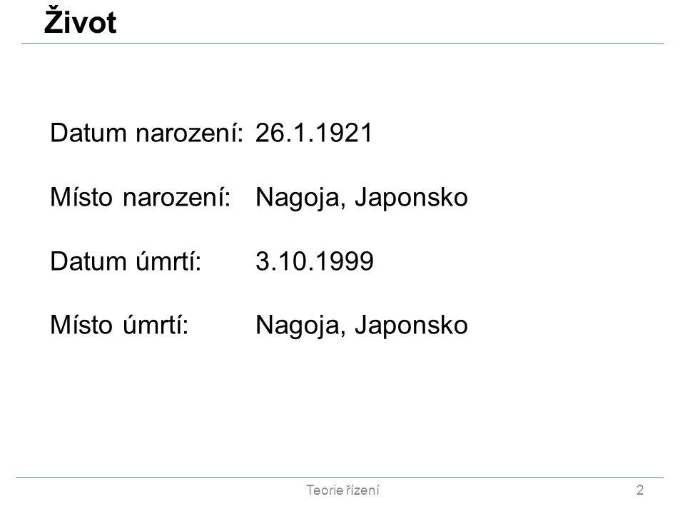 2 Datum narození:26.1.1921 Místo narození:Nagoja, Japonsko Datum úmrtí:3.10.1999 Místo úmrtí:Nagoja, Japonsko Život