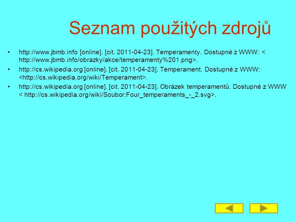 Seznam použitých zdrojů http://www.jbmb.info [online].