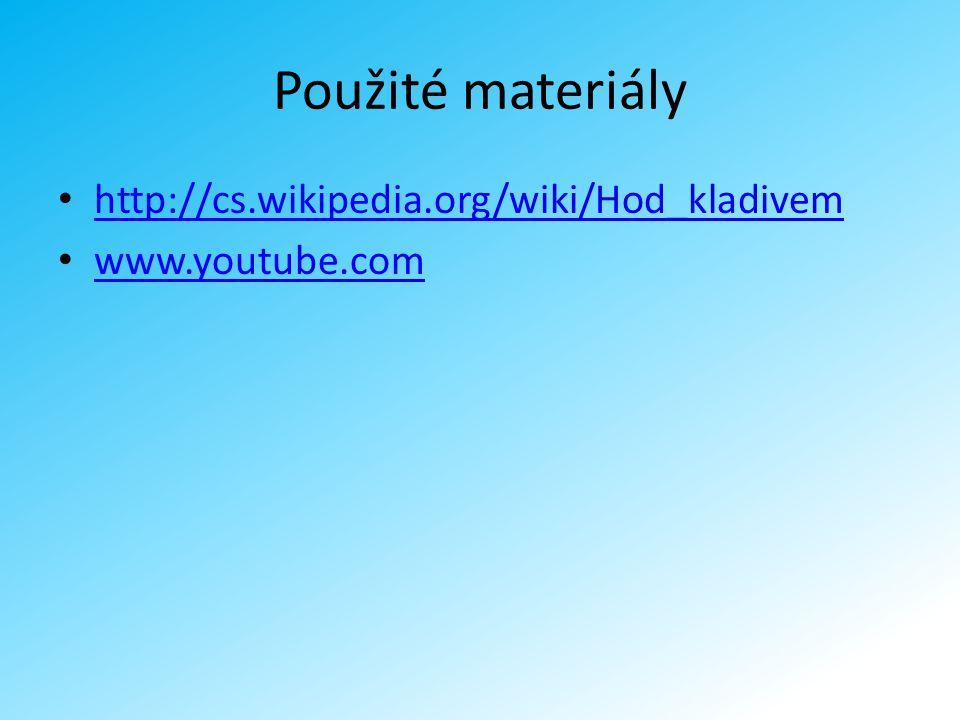 Použité materiály http://cs.wikipedia.org/wiki/Hod_kladivem www.youtube.com
