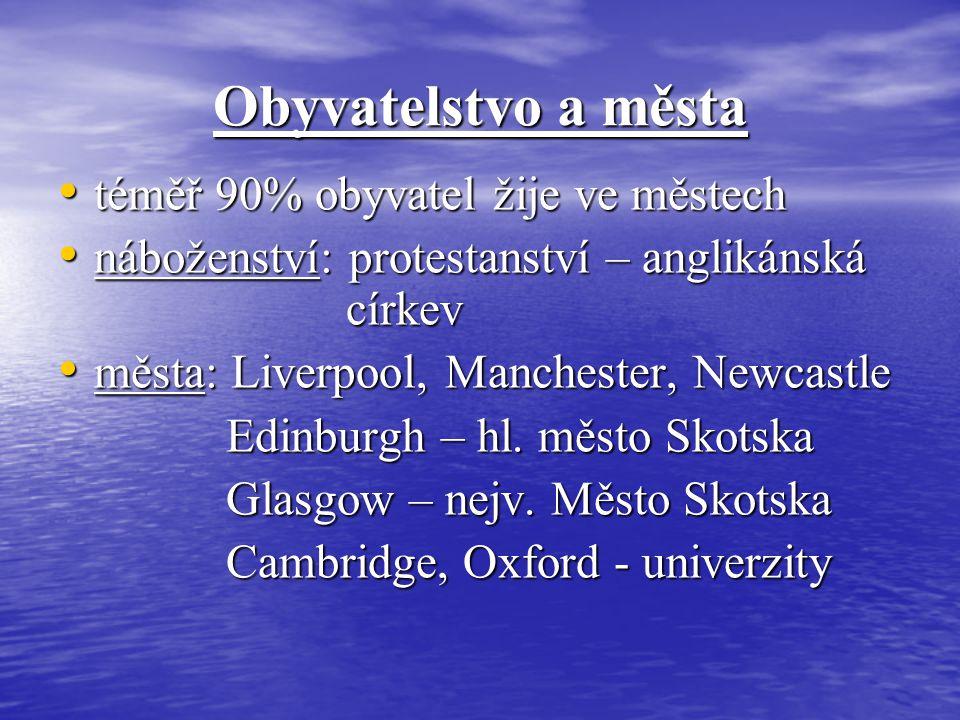 Obyvatelstvo a města téměř 90% obyvatel žije ve městech téměř 90% obyvatel žije ve městech náboženství: protestanství – anglikánská církev náboženství